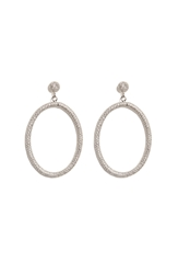 Carolina Bucci 18K White Gold Gitane Sparkly Oval Earrings