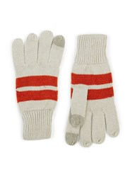 Topman Grey And Red Stripe Touch Screen Gloves