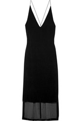 Dion Lee Velvet Dress Black