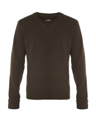 Maison Martin Margiela Elbow Patch Crew Neck Sweater Green