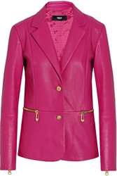 Versus Leather Blazer Pink