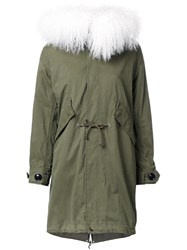Le Ciel Bleu Fur Collar Parka Green