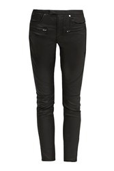 French Connection The Rebound Skinny Leather Look Jeans Black