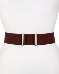 Valentino Wide Suede Belt Burgundy