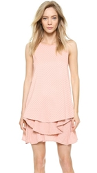 Jay Ahr Sleeveless Satin Eyelet Top Pink