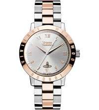 Vivienne Westwood Vv152rssl Stainless Steel And Pvd Rose Gold Plated Watch Silver
