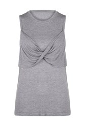 Lorna Jane Twist It Tank Grey