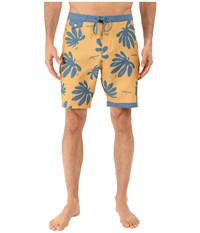 Vans Jt Trimline Boardshort Amber Gold Blue Ashes Men's Swimwear Yellow