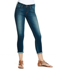 Jessica Simpson Destroyed Cropped Skinny Leg Jeans Monterey