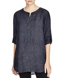 Eileen Fisher Linen Button Down Tunic Bloomingdale's Exclusive Denim