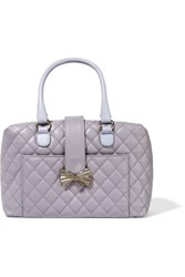 Red Valentino Redvalentino Quilted Faux Leather Tote Lavender