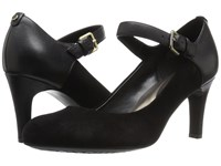 Easy Spirit Tarni Black Black Suede Women's Shoes