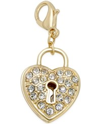 Thalia Sodi Gold Tone Pave Heart Lock Clip On Charm Only At Macy's