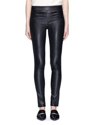 Helmut Lang Stretch Lambskin Leather Leggings Black