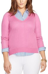 Plus Size Women's Lauren Ralph Lauren V Neck Sweater