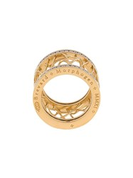 John Brevard 'Web Frame' Diamond Ring Metallic