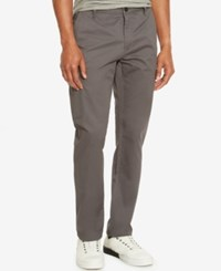 Kenneth Cole Reaction Men's Lightweight Twill Cargo Pants Ash Grey