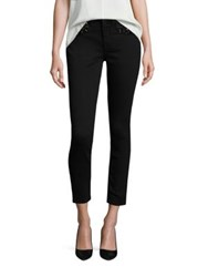 Jen7 Riche Touch Embellished Skinny Ankle Jeans Black