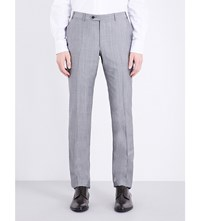 Corneliani Regular Fit Wool And Mohair Blend Trousers Grey