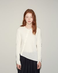 Comme Des Garcons Asymmetrical Cardigan Pullover Off White