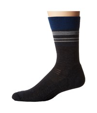 Icebreaker Hike Light Crew 1 Pair Pack Jet Heather Largo Twister Heather Men's Crew Cut Socks Shoes Black