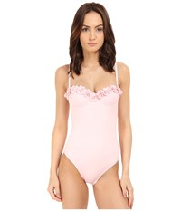 Kate Spade Spring 17 Underwire Maillot Pastry Pink Women's Swimsuits One Piece Multi