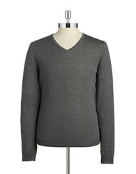 Strellson Wool V Neck Sweater Dark Grey