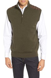 Bobby Jones Men's Cambridge Quarter Zip Merino Wool Vest