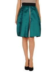 Roksanda Ilincic Knee Length Skirts Emerald Green