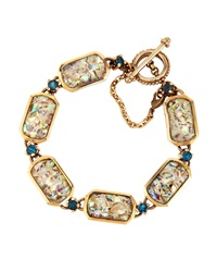 Stephen Dweck Abalone And Blue Topaz Bracelet