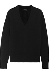 Joseph Button Detailed Cashmere Sweater Black