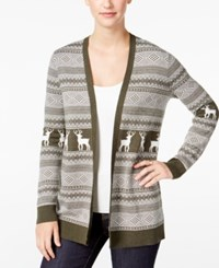 G.H. Bass And Co. Patterned Cardigan Heather Dark Pine Combo