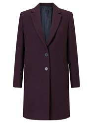 Jigsaw Compact Wool Coat Winter Plum