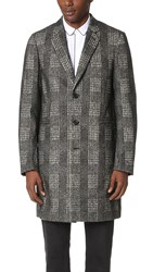 Paul Smith Single Breasted Tailored Coat Grey Check