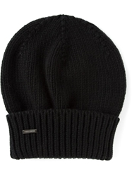 Dsquared2 Slouch Fit Beanie Hat Black