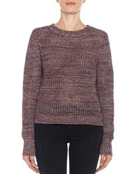 Joe's Jeans Reed Cropped Sweater Garnet
