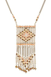 Valentino Bead Embellished Necklace Multicolor