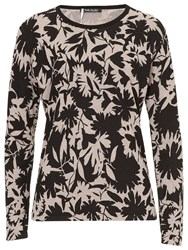 Betty Barclay Printed Knit Top Black Taupe