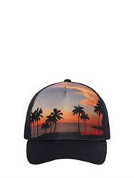 Dsquared2 Sunset Printed Nylon And Mesh Trucker Hat