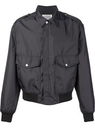 Maison Martin Margiela Maison Margiela Pocketed Bomber Jacket Grey