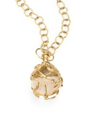 Temple St. Clair Tree Of Life Rock Crystal Diamond And 18K Yellow Gold Large Vine Amulet Yellow Gold Crystal