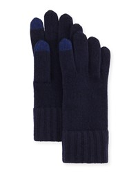 Goodman's Cashmere Touch Screen Gloves Navy