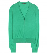 Bottega Veneta Cashmere And Silk Blend Cardigan Green