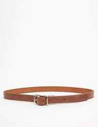 Billykirk Slim Center Bar Plain Belt Tan