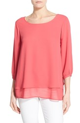 Women's Pleione Layered Chiffon Top Red Chateaux