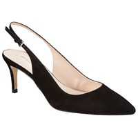 John Lewis Abby Sling Back Court Shoes Black