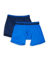 Jockey 2 Pack Athletic Mesh Boxer Brief Blue