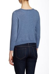 Wild Pearl Scoop Neck Cropped Cardigan Juniors Juniors Blue