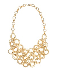 Fragments For Neiman Marcus Fragments Textured Layered Chain Bib Necklace Golden