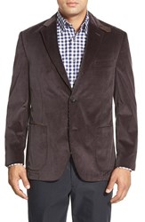 Men's Big And Tall Kroon 'The Edge' Corduroy Sport Coat With Suede Patches